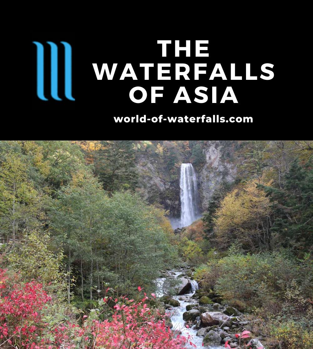 Asia Waterfalls Map