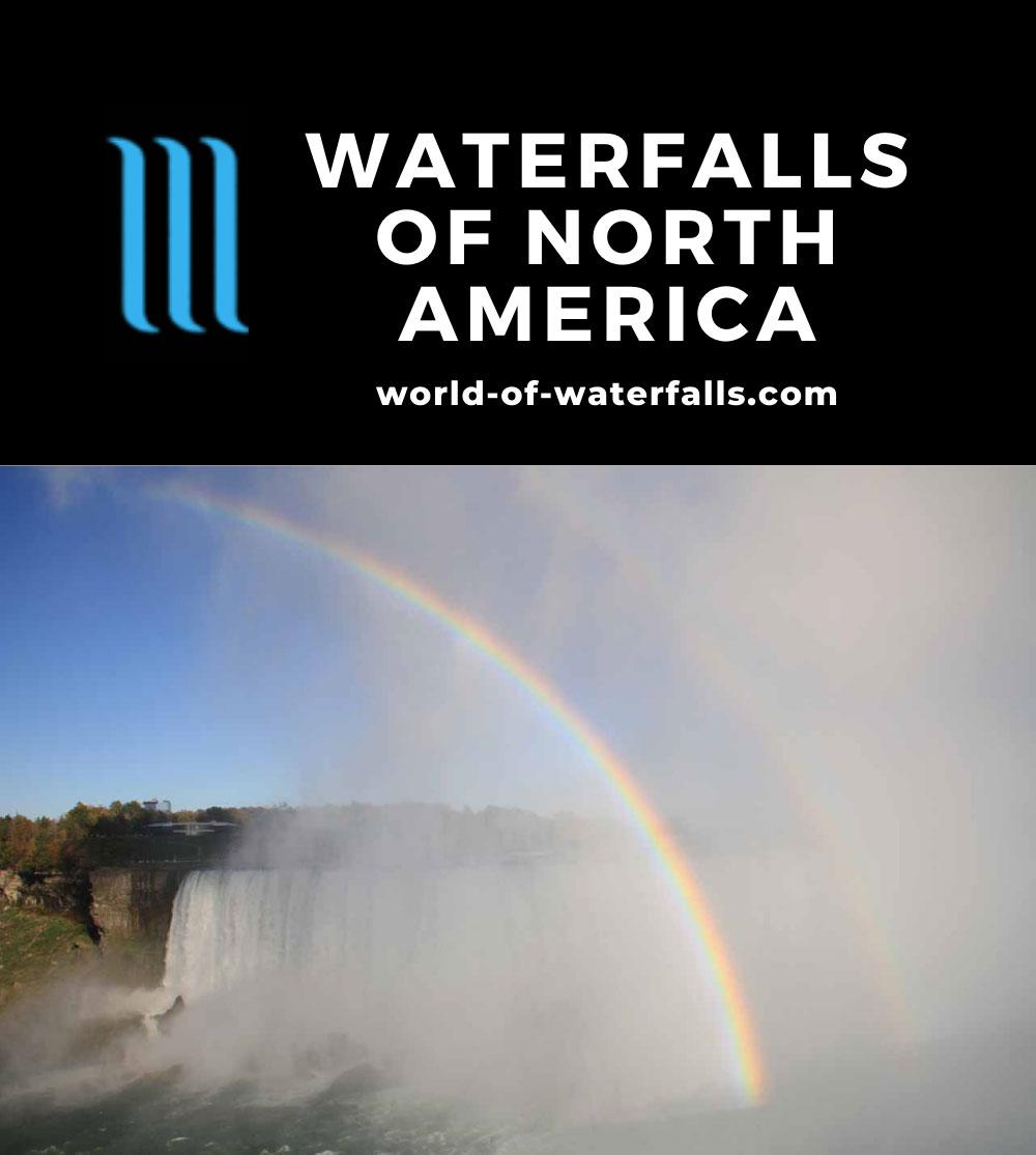 North America Waterfalls Map