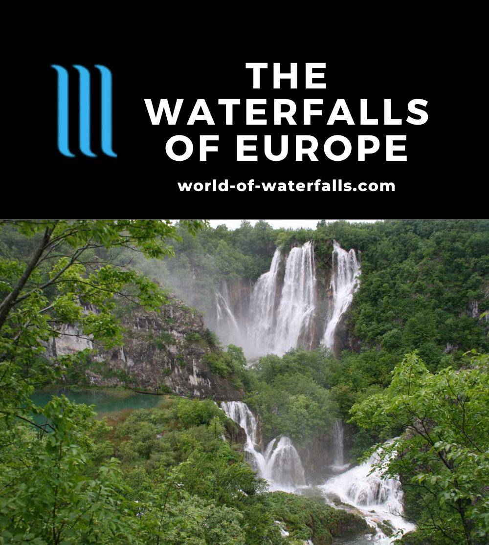 Europe Waterfalls Map